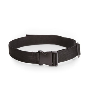 Fabric belt with plastic buckle